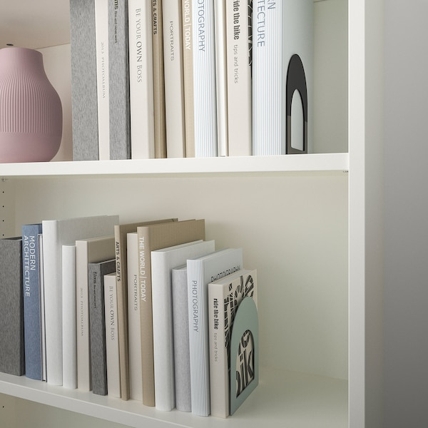 BOTTNA book-end light grey-green/anthracite 13 cm 15 cm 2 pieces