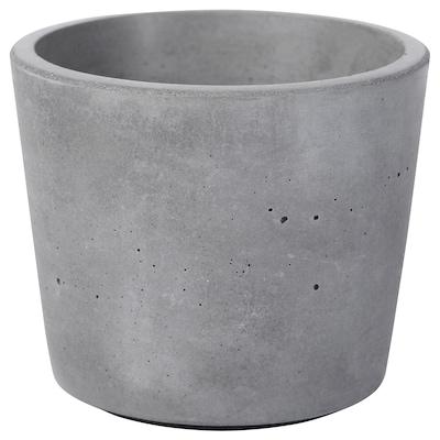 BOYSENBÄR Plant pot, in/outdoor light grey, 6 cm