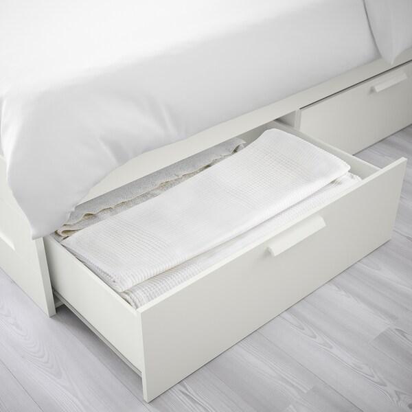 BRIMNES bed frame with storage white/Luröy 20 cm 206 cm 186 cm 47 cm 94 cm 54 cm 200 cm 180 cm