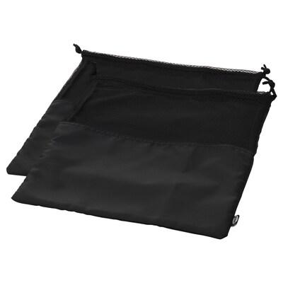 BRODERLIG Shoe bag, black, 32x40 cm