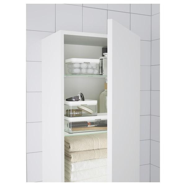 BROGRUND Box, set of 3, transparent grey/white