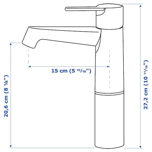 BROGRUND Wash-basin mixer tap, tall, chrome-plated
