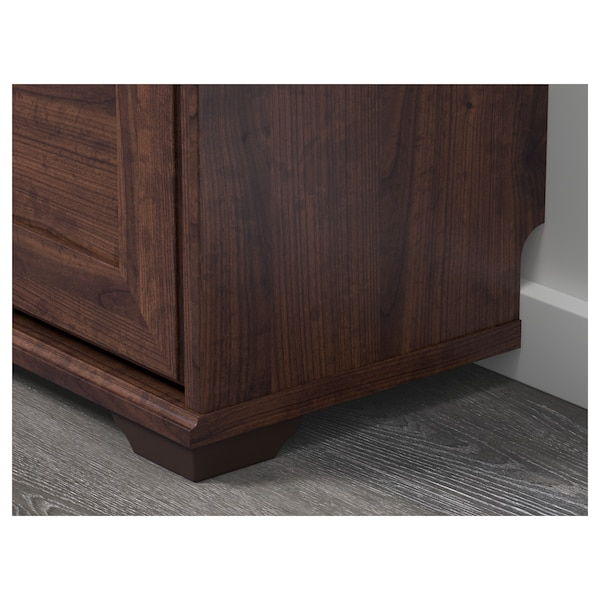 BRUSALI Shoe cabinet with 3 compartments, brown, 61x30x130 cm