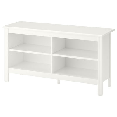 BRUSALI TV bench, white, 120x36x62 cm