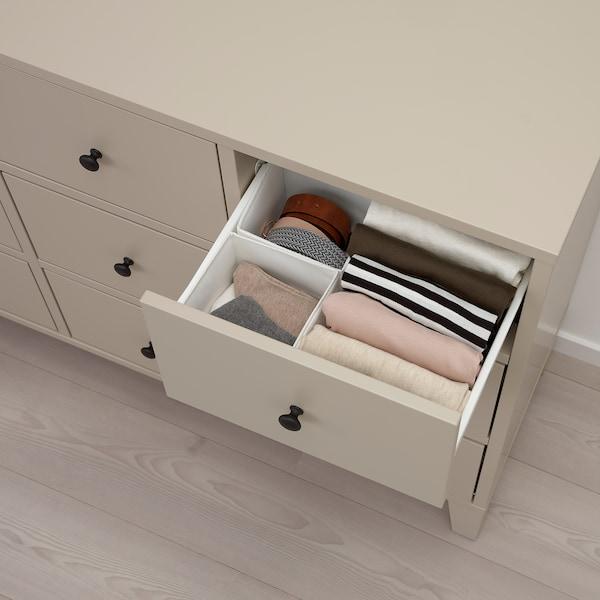 BRYGGJA Chest of 9 drawers, beige, 118x92 cm