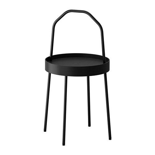 Burvik Side Table Black Ikea