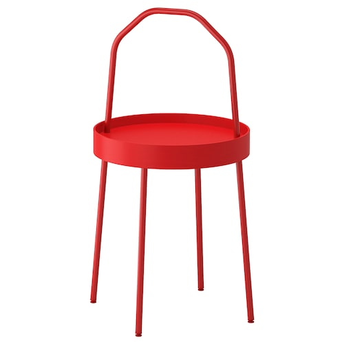 BURVIK side table red 78 cm 45 cm 38 cm