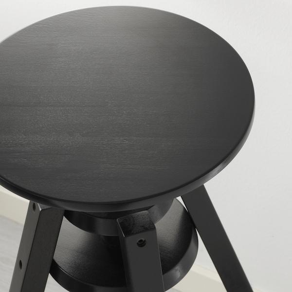 DALFRED Bar stool, black, 63-74 cm