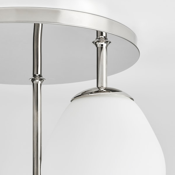 DEJSA Ceiling lamp with 3 lamps, chrome-plated/opal white glass