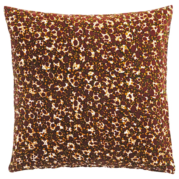 DEKORERA Cushion cover, dotted wine red, 50x50 cm