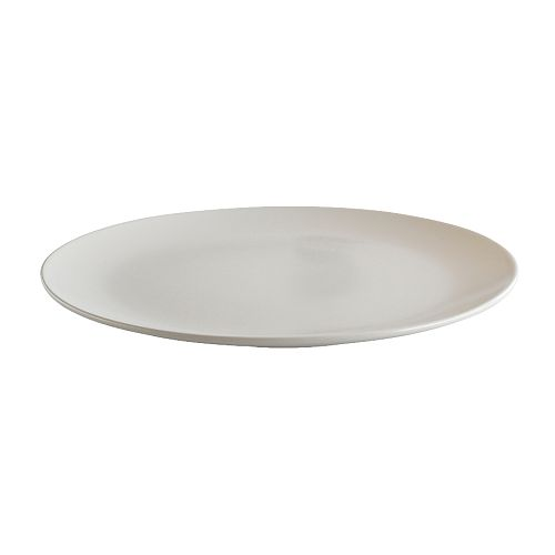 DINERA Plate IKEA With its simple shapes, muted colours and matt glaze, the dinnerware gives a rustic feel to your table setting.
