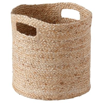 DOJTÅTAR Basket, handmade/natural, 30x30x30 cm