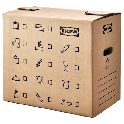 DUNDERGUBBE Moving box, brown, 50x31x40 cm