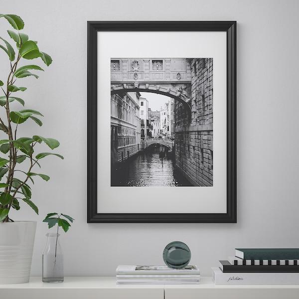 EDSBRUK Frame, black stained, 50x70 cm