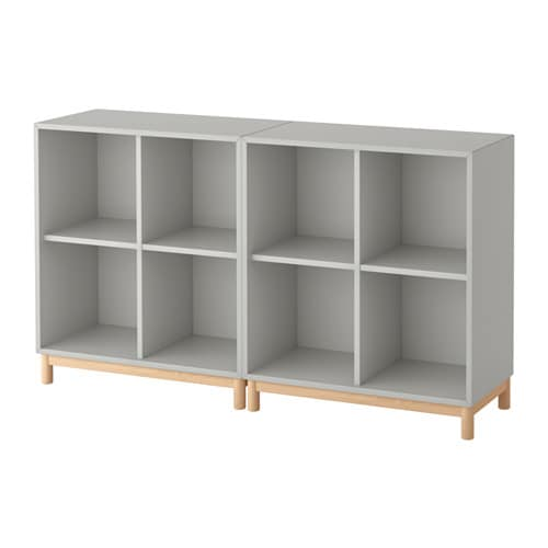 Eket cabinet combination with legs light grey ikea - Mobile billy ikea ...