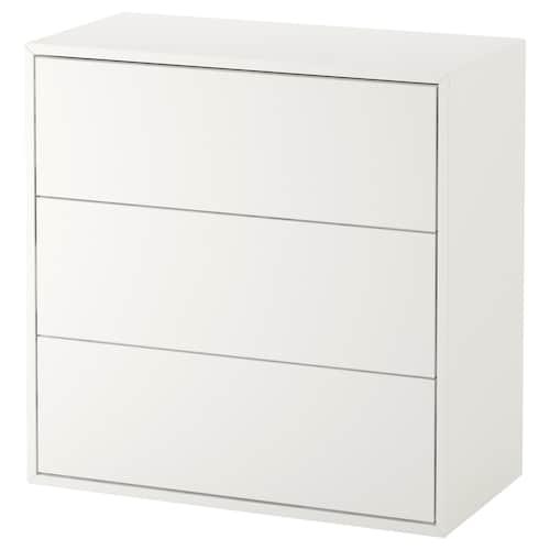 EKET cabinet with 3 drawers white 70 cm 35 cm 70 cm 63 cm 28 cm 3 kg