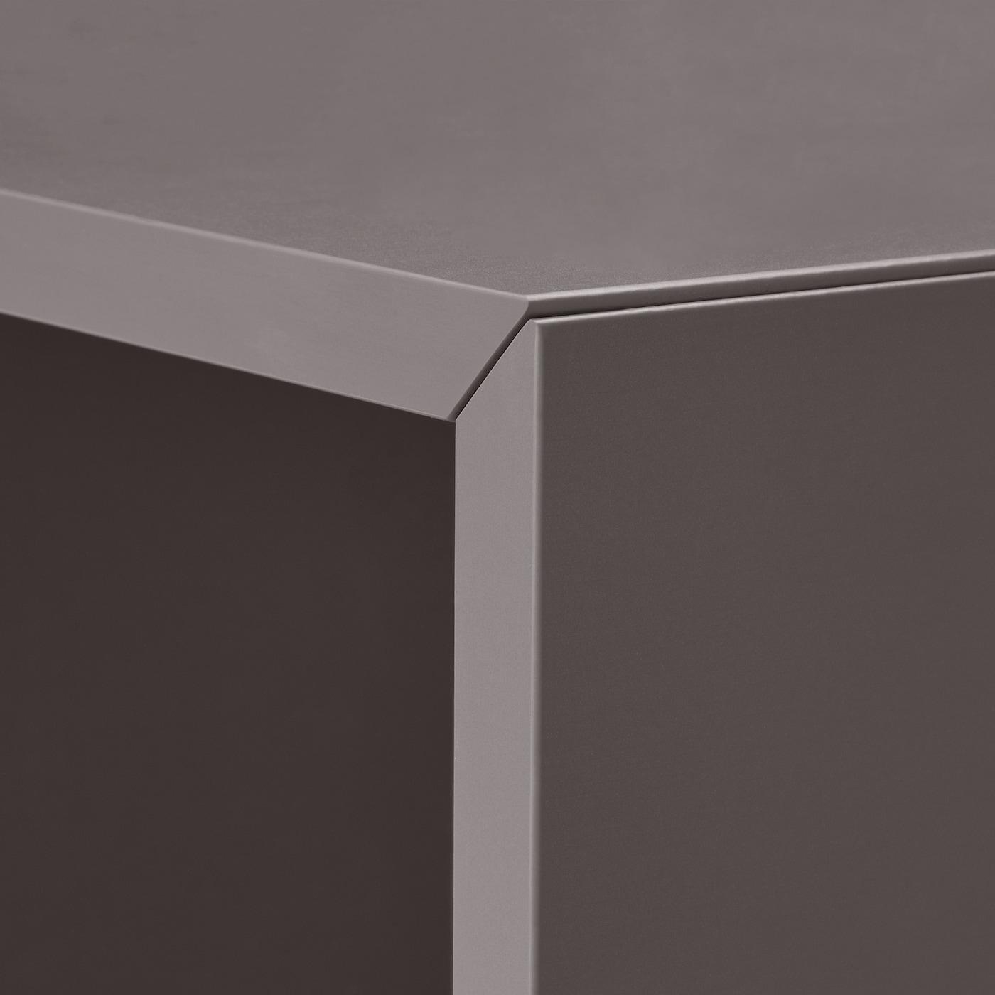 EKET Cabinet with 4 compartments, dark grey, 70x35x70 cm