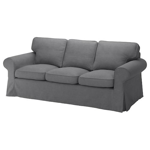 EKTORP three-seat sofa Nordvalla dark grey 218 cm 88 cm 88 cm 49 cm 45 cm