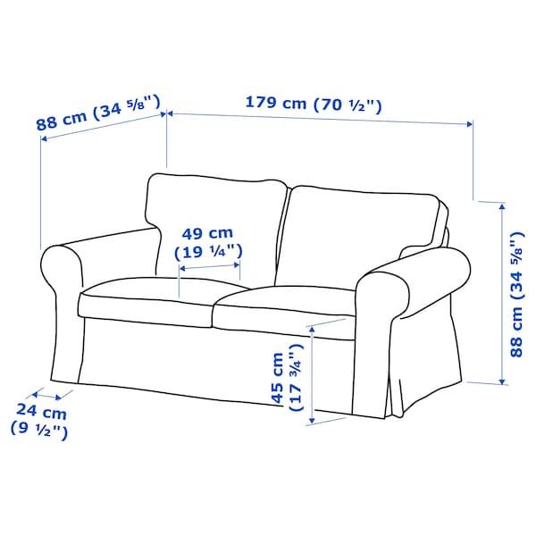 EKTORP two-seat sofa Vittaryd white 179 cm 88 cm 88 cm 49 cm 45 cm