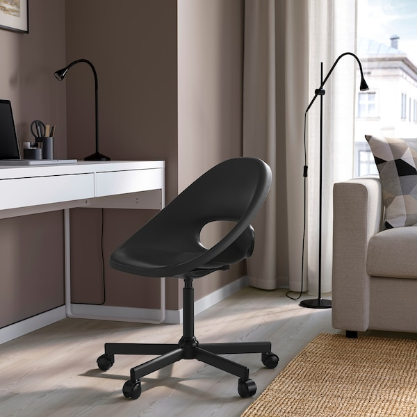 ELDBERGET / MALSKÄR Swivel chair, black