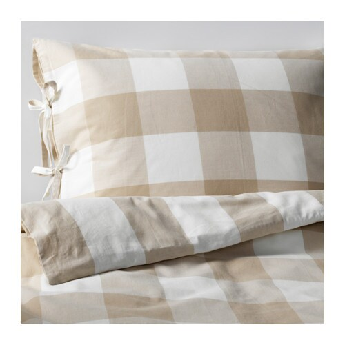 EMMIE RUTA Quilt cover and 2 pillowcases IKEA