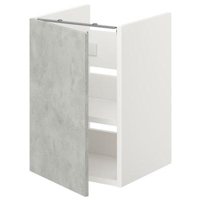 ENHET Bs cb f wb w shlf/door, white/concrete effect, 40x42x60 cm
