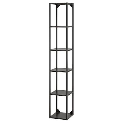 ENHET High fr w shelves, anthracite, 30x30x180 cm