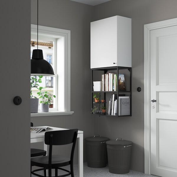 ENHET Wall storage combination, anthracite/white, 60x30x150 cm