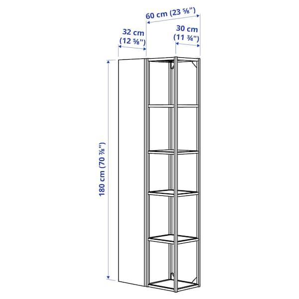 ENHET Wall storage combination, white/high-gloss white, 60x32x180 cm