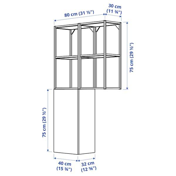 ENHET Wall storage combination, white, 80x32x150 cm