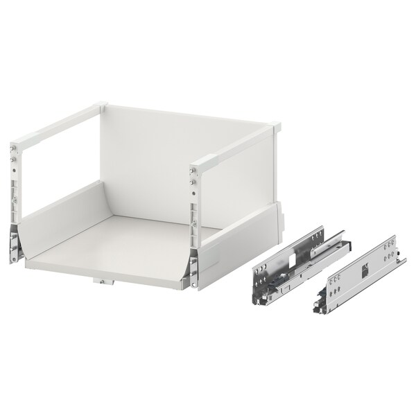 EXCEPTIONELL Drawer, high with push to open, white, 40x37 cm
