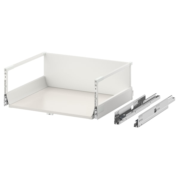 EXCEPTIONELL Drawer, high with push to open, white, 60x45 cm