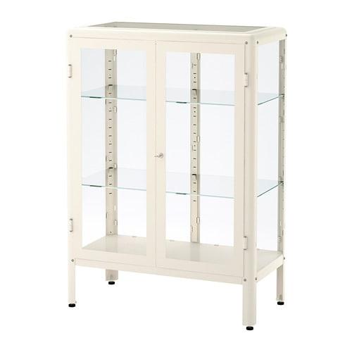 Fabrikr Glass Door Cabinet White Ikea