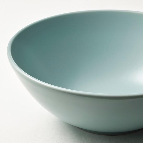 FÄRGKLAR Bowl, matt light turquoise, 16 cm