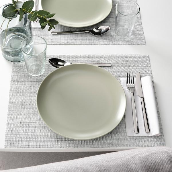 FÄRGKLAR Plate, matt green, 26 cm