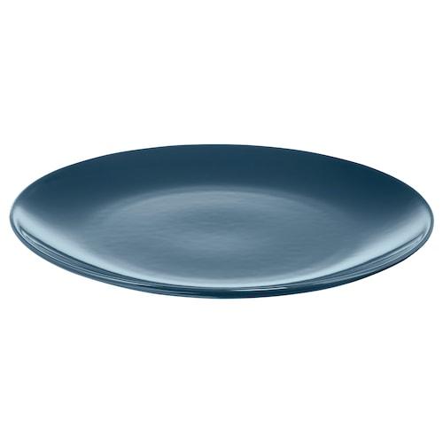 FÄRGRIK plate dark turquoise 27 cm