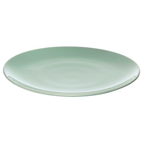 FÄRGRIK plate light green 27 cm