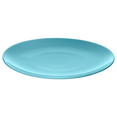 FÄRGRIK plate turquoise 27 cm