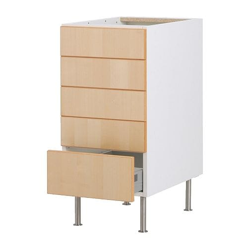 Faktum base cabinet with 5 drawers nexus birch veneer - Ikea cuisine range bouteille ...