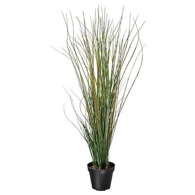 FEJKA Artificial potted plant, grass, 17 cm
