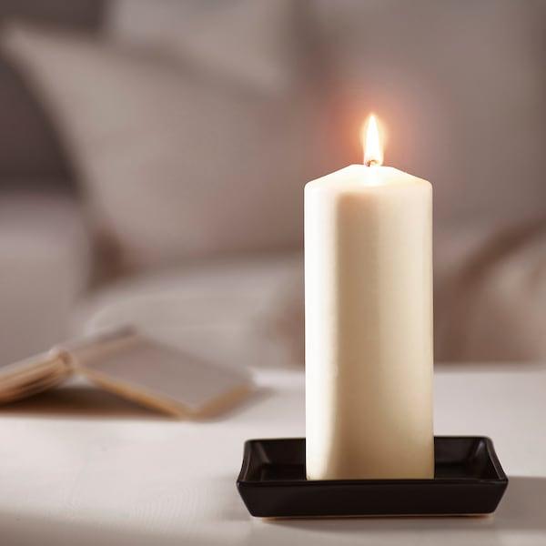 FENOMEN Unscented block candle, natural, 20 cm
