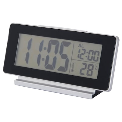 FILMIS Clock/thermometer/alarm, black