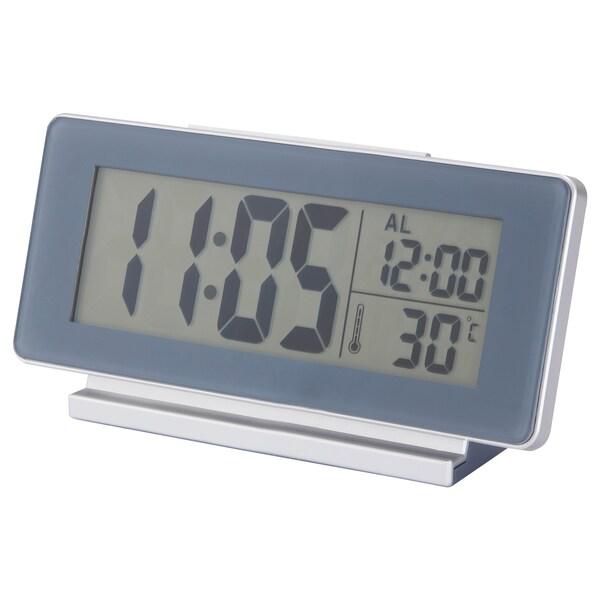 FILMIS Clock/thermometer/alarm, grey