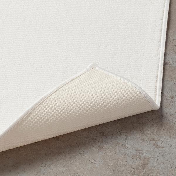 FINTSEN Bath mat, white, 40x60 cm