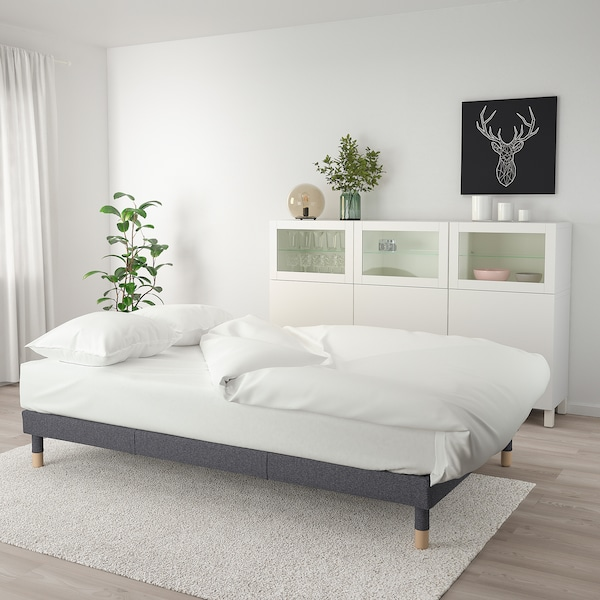 FLOTTEBO Sofa-bed, Gunnared medium grey, 120 cm