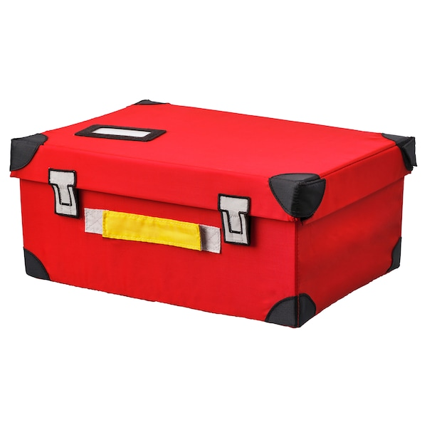 FLYTTBAR trunk for toys red 35 cm 25 cm 15 cm