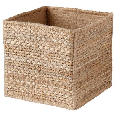 FÖRVIDDEN Basket, handmade/natural, 30x30x30 cm