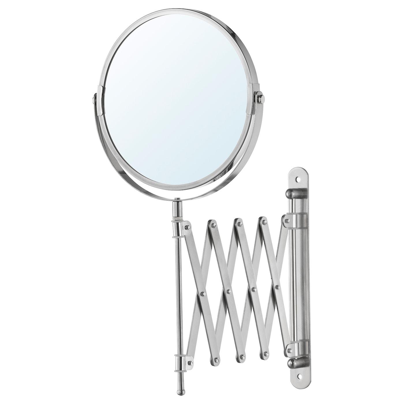 IKEA FRACK Wall Mount Bath Bathroom Magnifying Mirror Stainless Steel