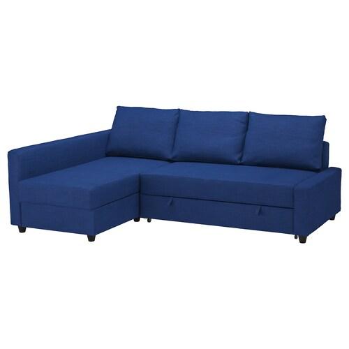 FRIHETEN corner sofa-bed with storage Skiftebo blue 230 cm 151 cm 66 cm 140 cm 204 cm