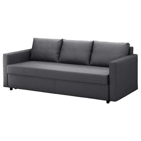 FRIHETEN Three-seat sofa-bed, Skiftebo dark grey